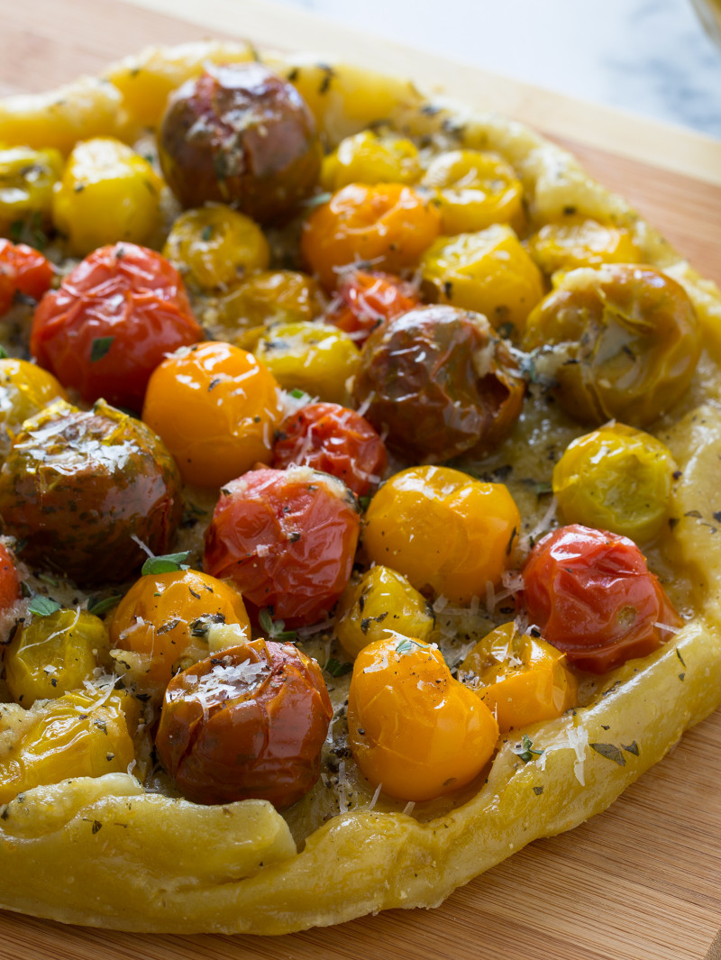 Heirloom Cherry Tomato Tarte Tatin