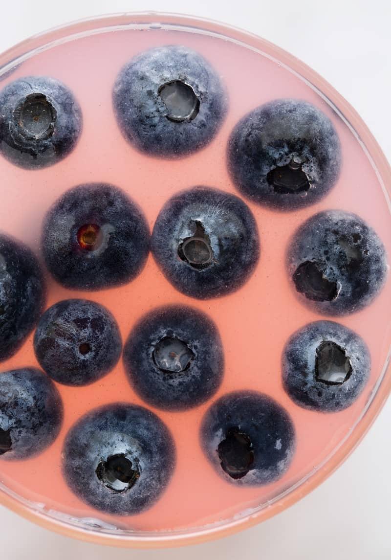 Sparkling Lemonade with Blueberries