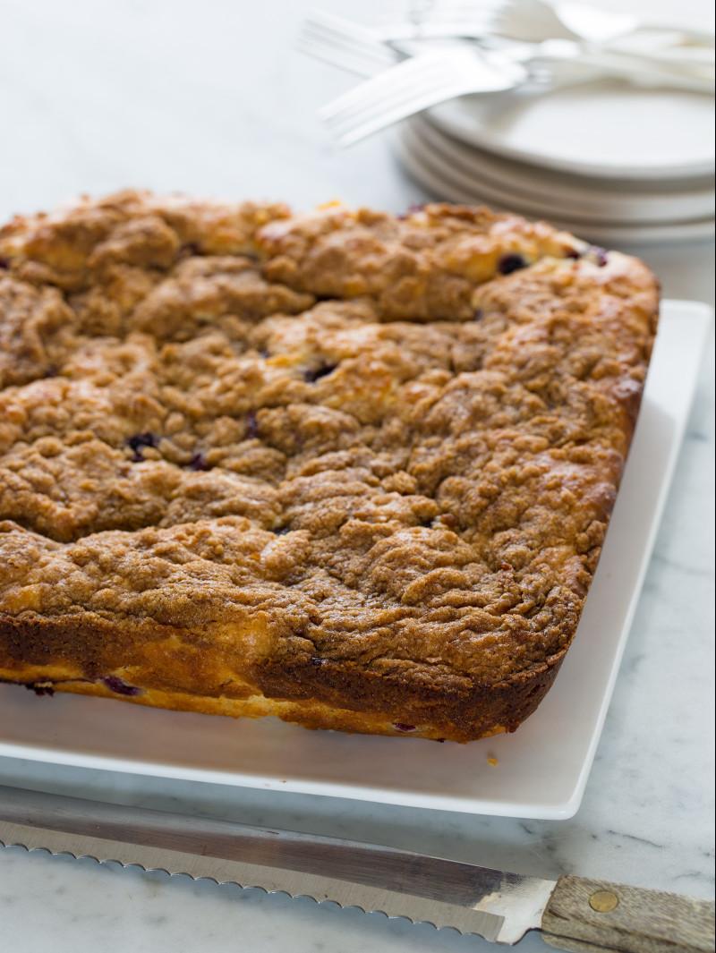 Blueberry Cardamom Crumb Cake