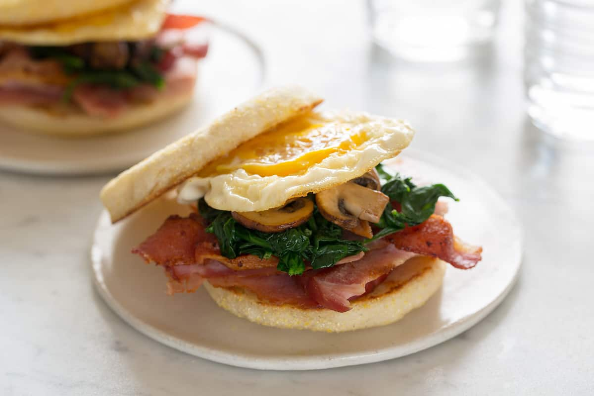 Toasted Breakfast Sandwich | Spoon Fork Bacon