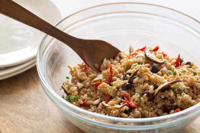 Mediterranean Style Farro Salad recipe