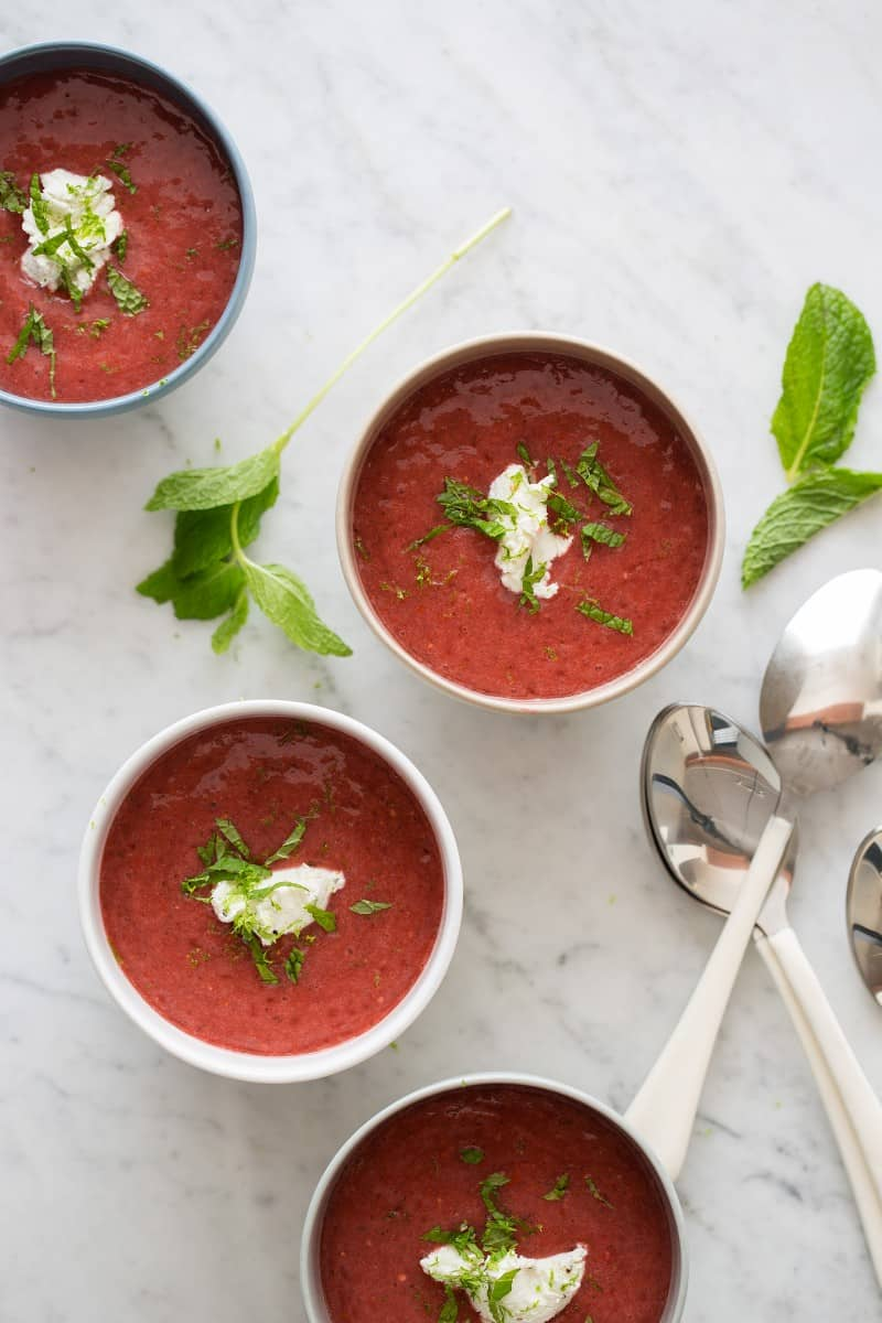 Strawberry and Tomato Gazpacho recipe