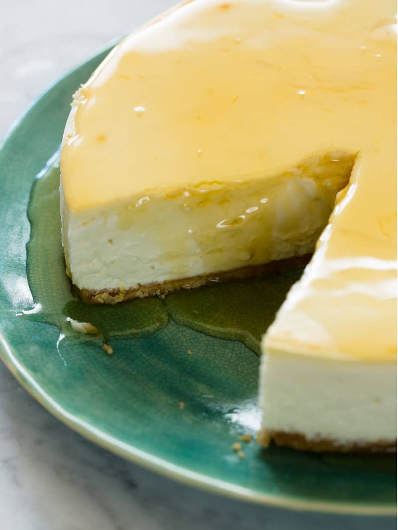 Goat Cheese and Yogurt Cheesecake recipe