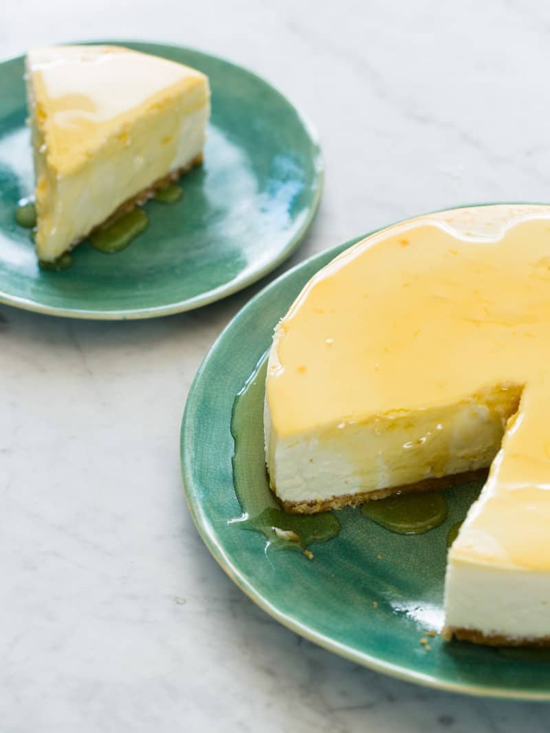 A recipe for Goat Cheese and Yogurt Cheesecake