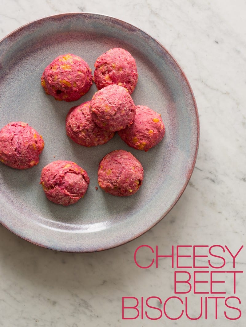 Cheesy Beet Biscuits