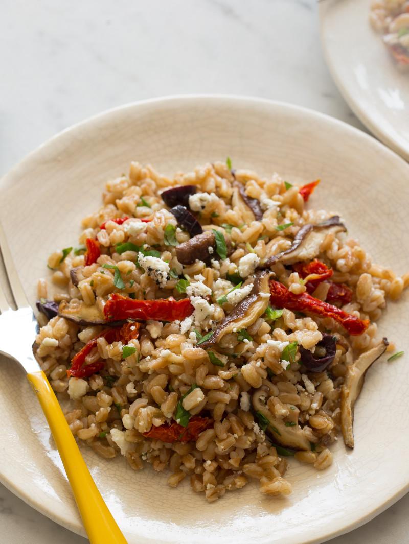 Mediterranean Style Farro Salad
