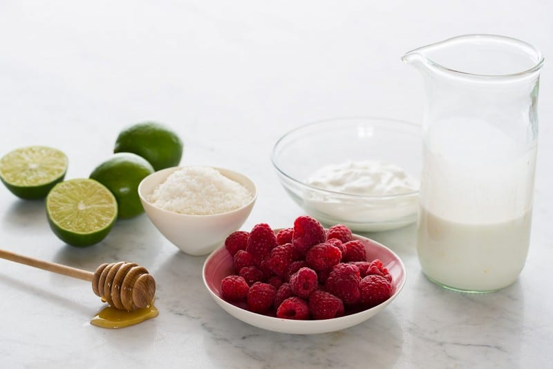 Raspberry Coconut Popsicles ingredients