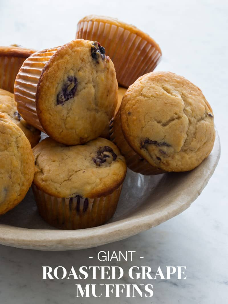 Giant Roasted Grape Muffins