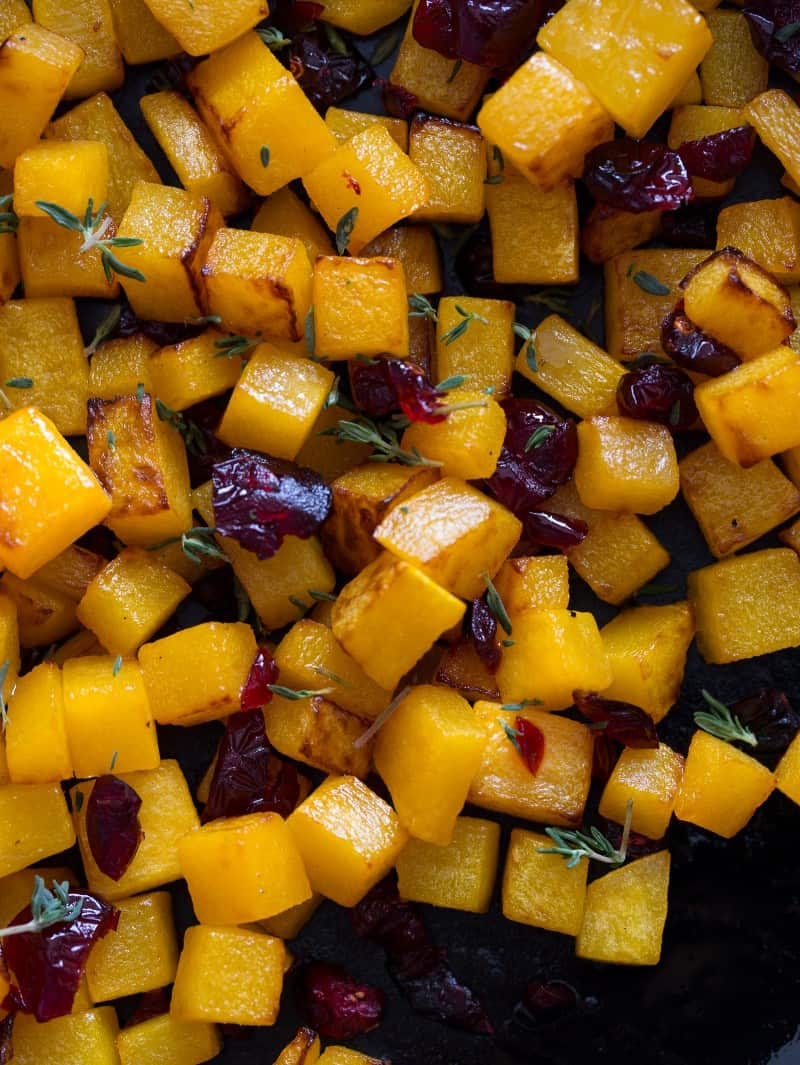 Butternut Squash and Cranberry topping