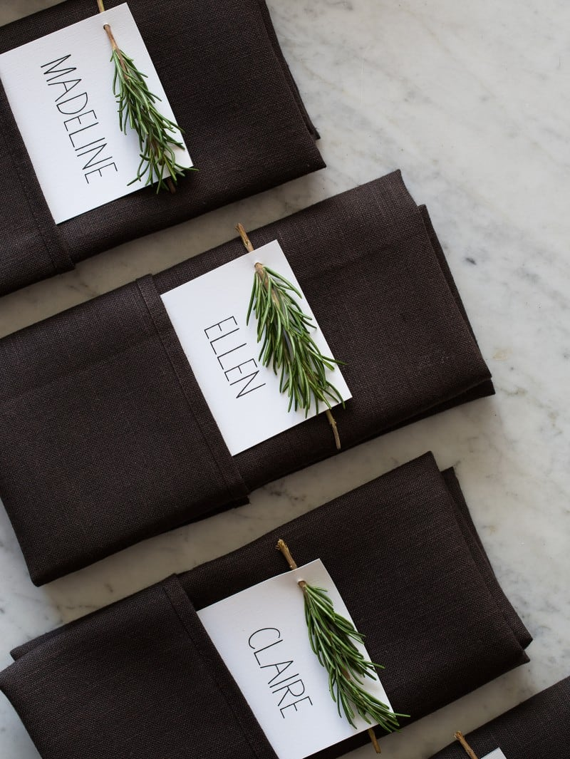 Rosemary Spring Place Cards DIY