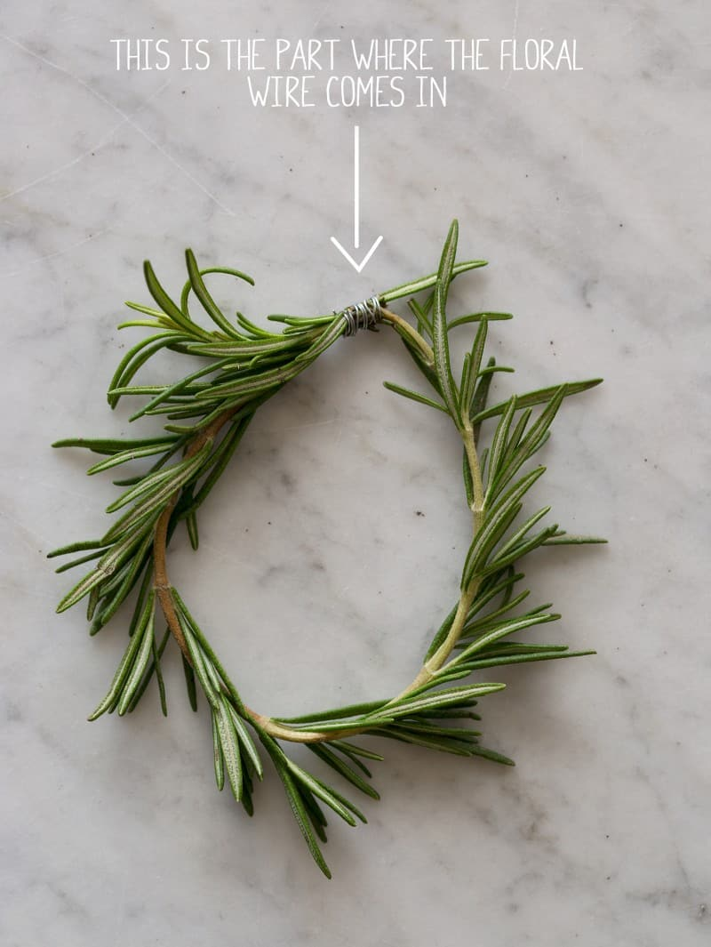 Rosemary Wreath Place Cards directions