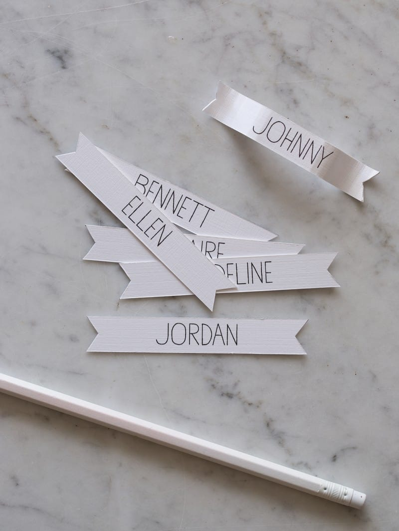 Rosemary Wreath Place Cards name tags