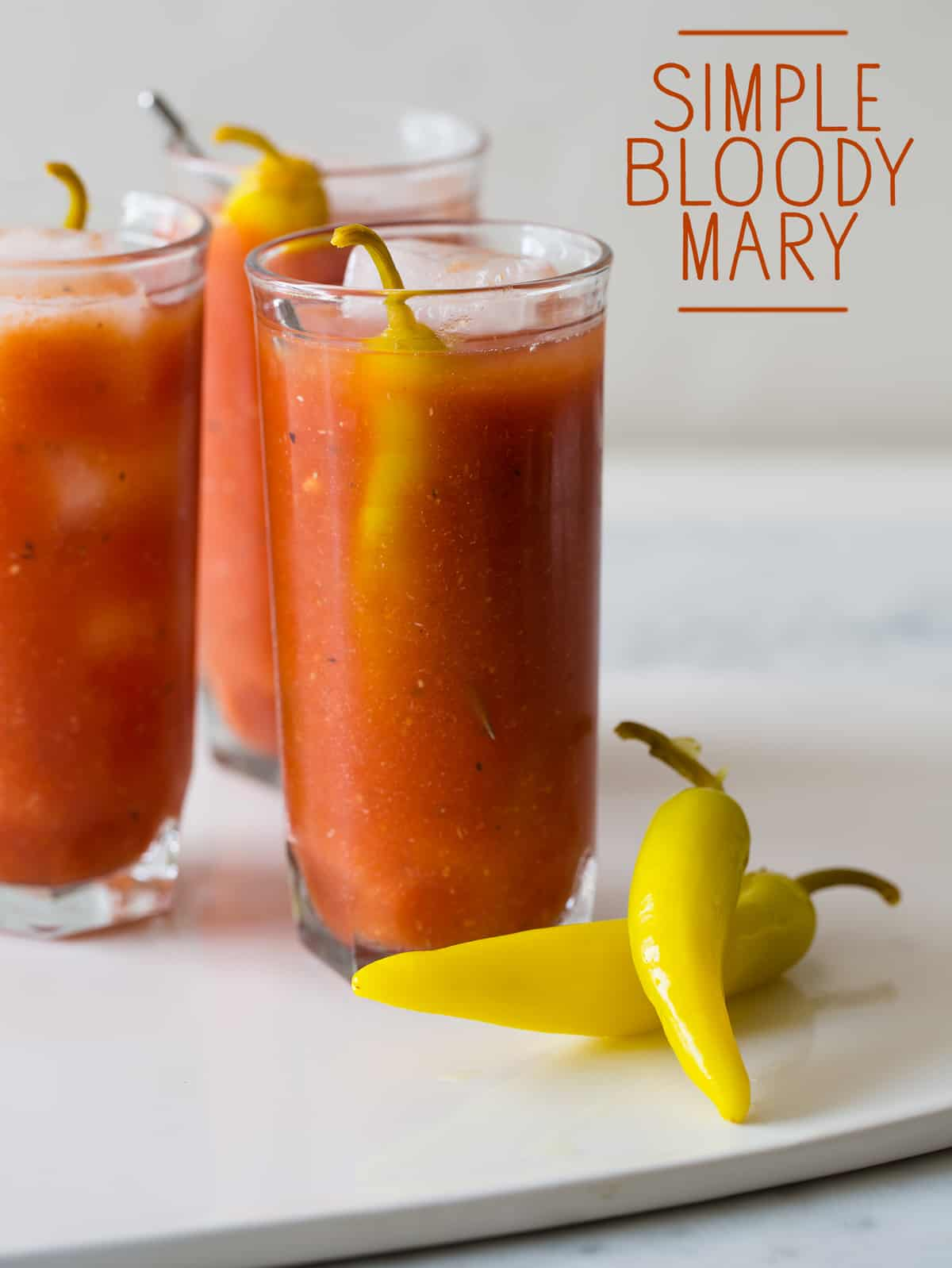 Simple bloody mary recipe spoon fork bacon