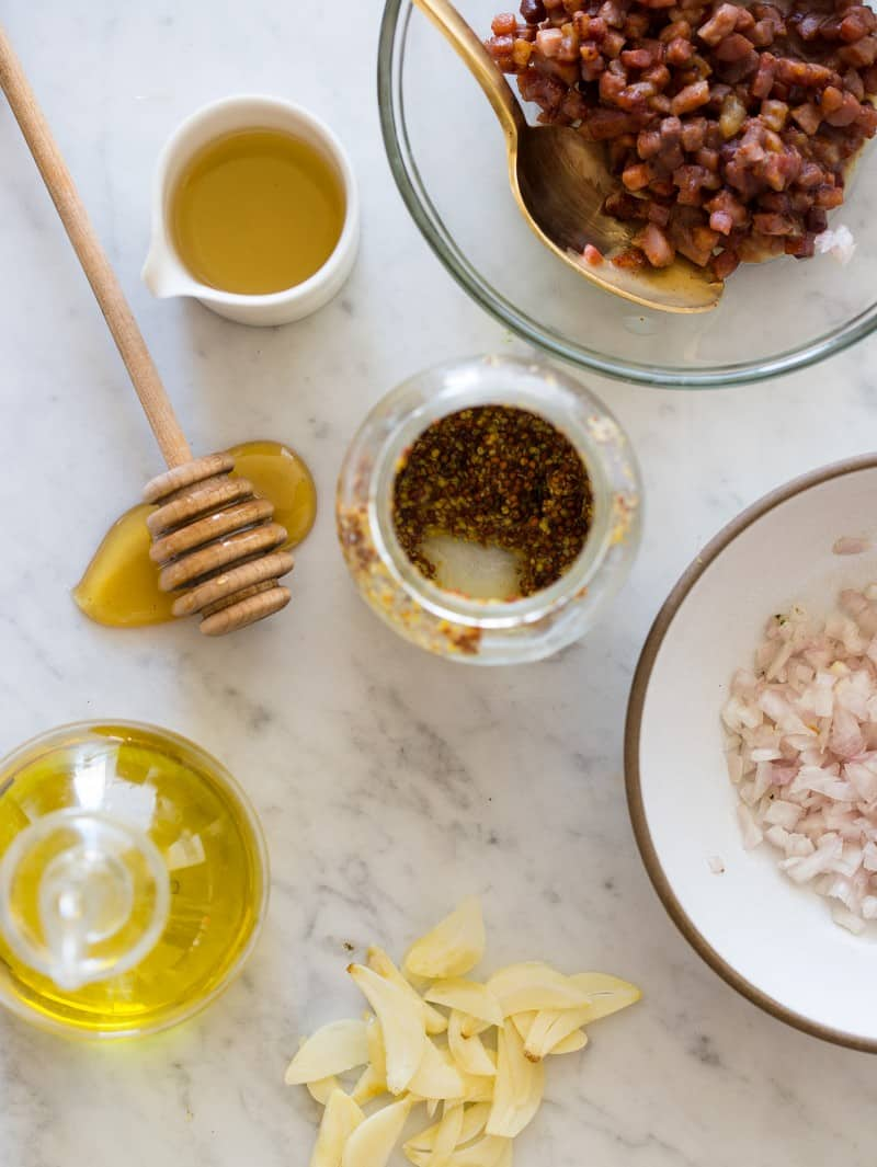 Prosciutto Mustard Vinaigrette Ingredients