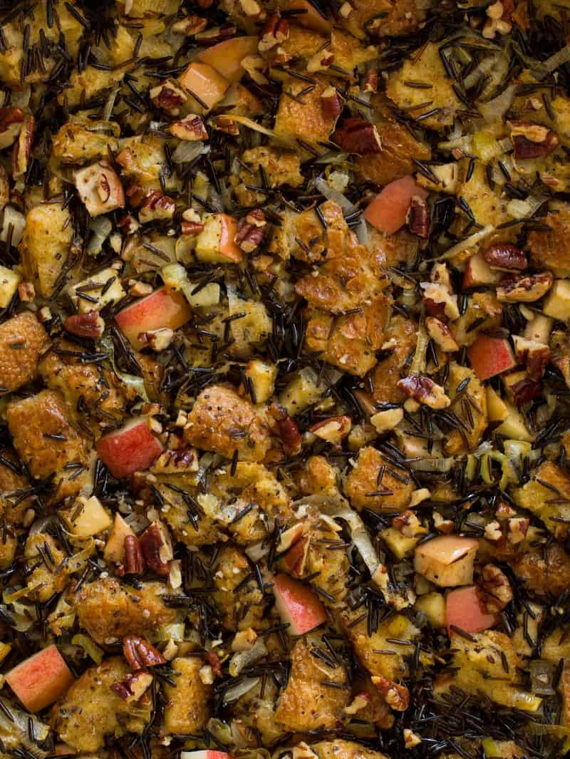 Apple Thyme and Wild Rice Stuffing recipe