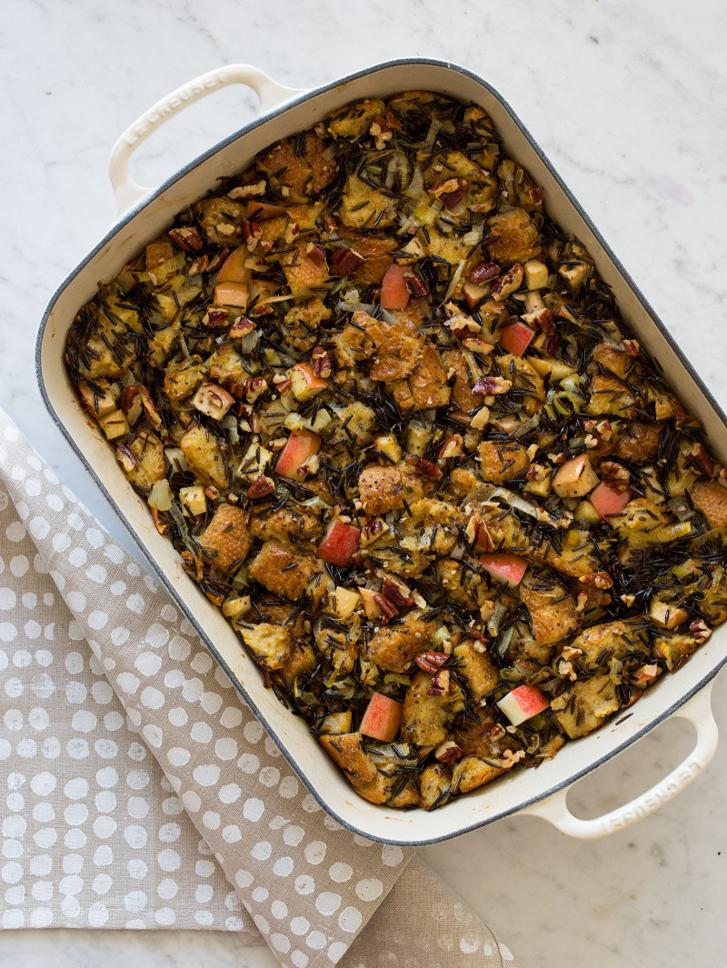 Apple Thyme and Wild Rice Stuffing
