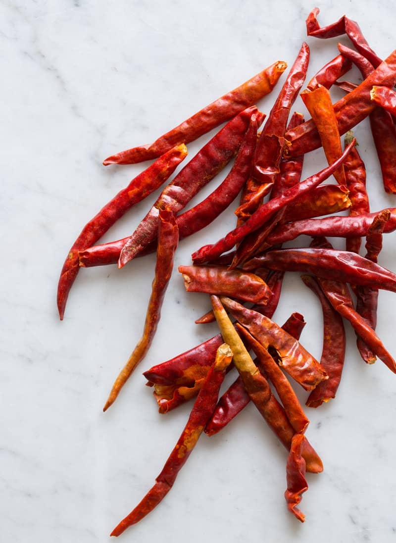 De Arbol Chiles for  Homemade Harissa Two Ways