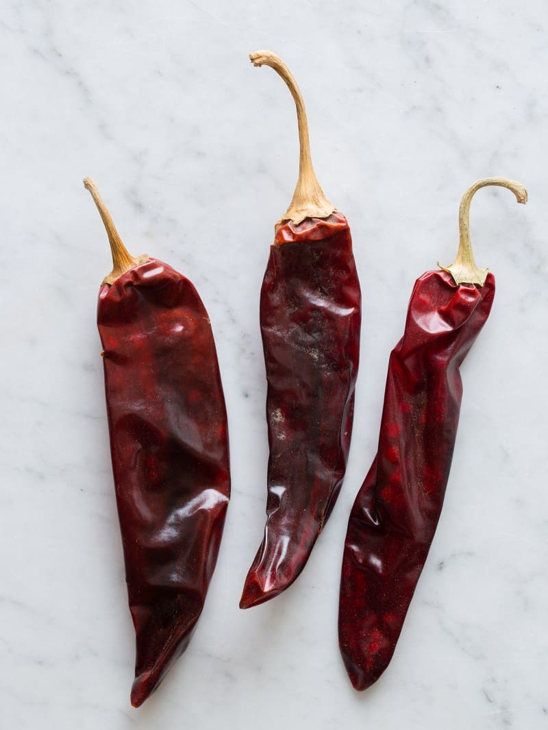 Guajillo Chiles for Homemade Harissa Two Ways