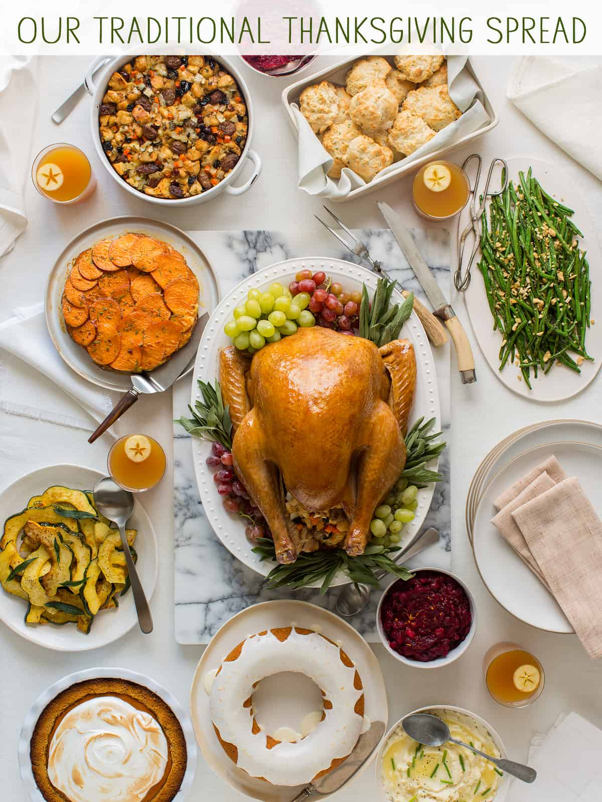 Our traditional thanksgiving spread thanksgiving recipes our traditional thanksgiving spread recipe forumfinder Image collections