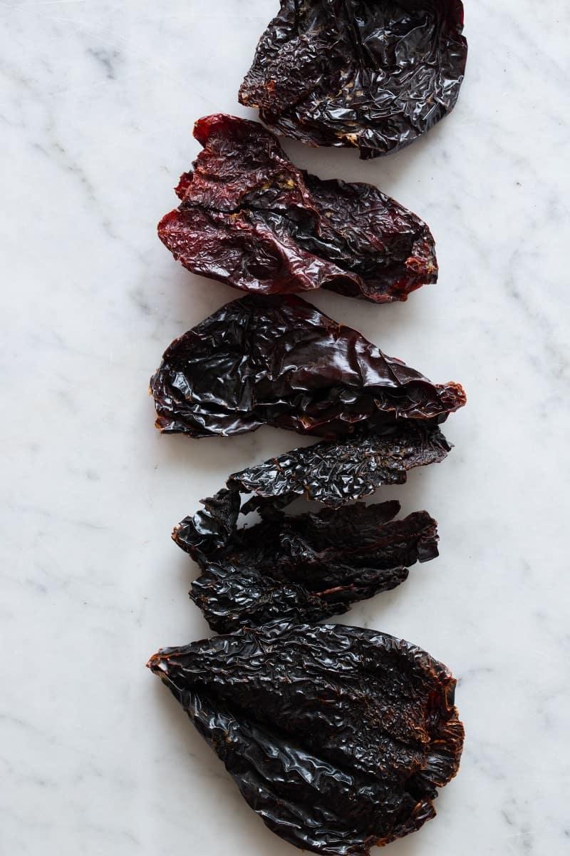 Pasilla Chiles for Homemade Harissa Two Ways