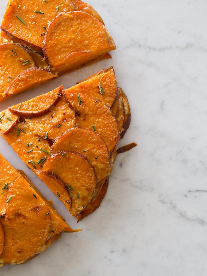 Sweet Potato and Rosemary Gratin recipe