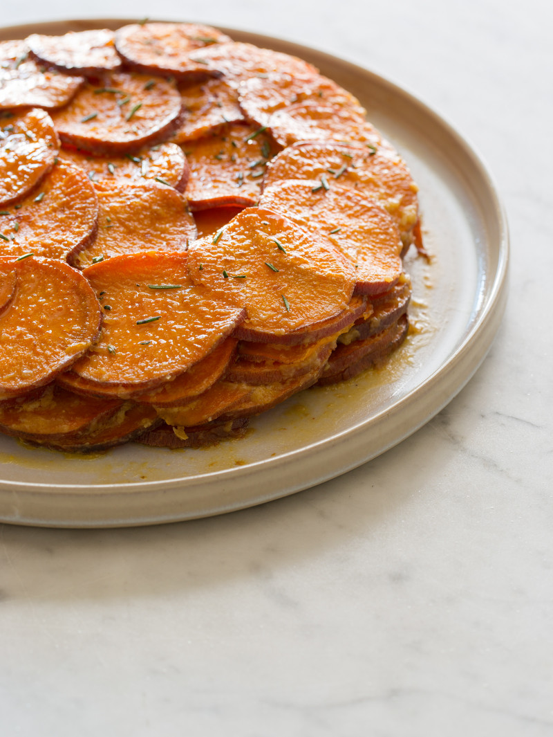 Sweet Potato and Rosemary Gratin