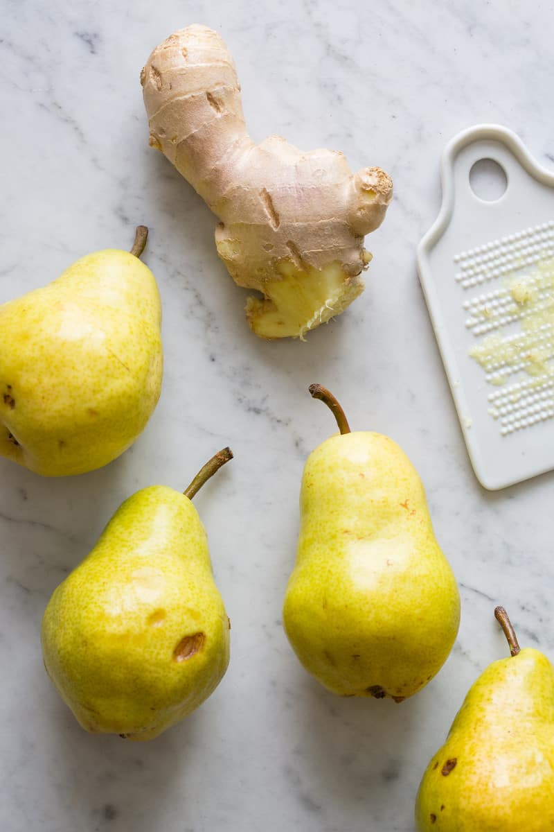 Homemade Ginger and Pear Simple Syrup