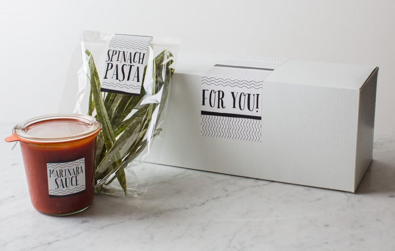 Pasta and Sauce Hostess Gift DIY