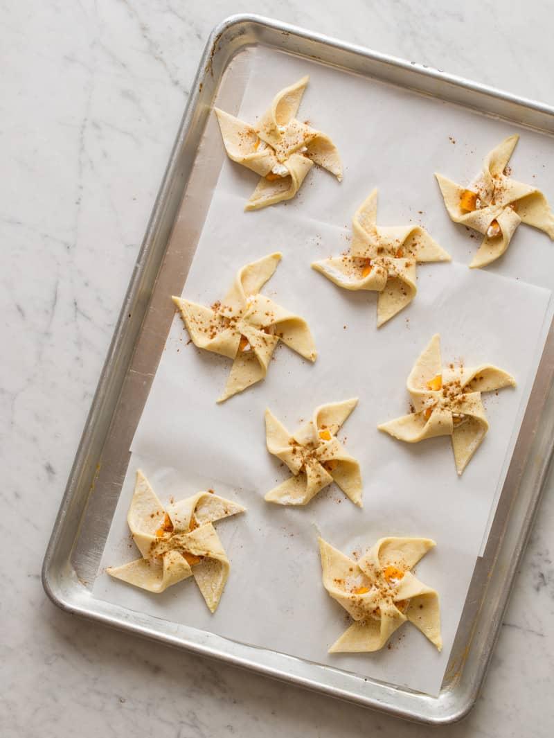 Roasted Persimmon Pinwheels recipe