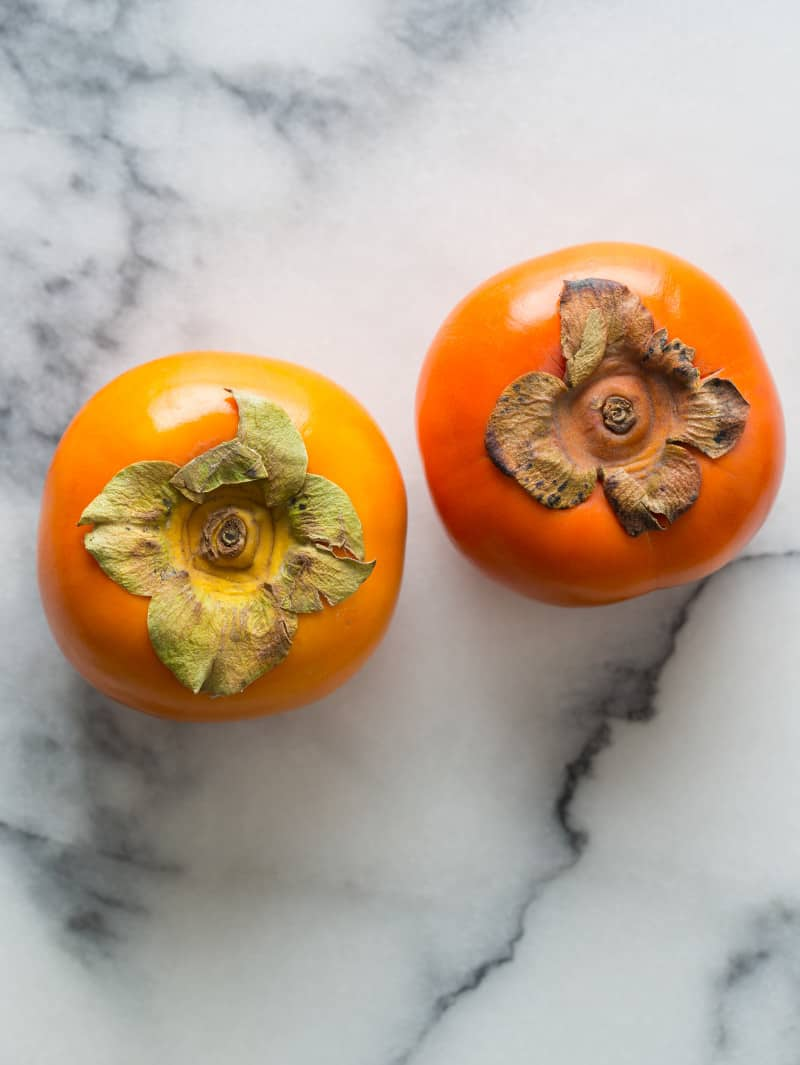 Persimmons for a Kale Salad recipe
