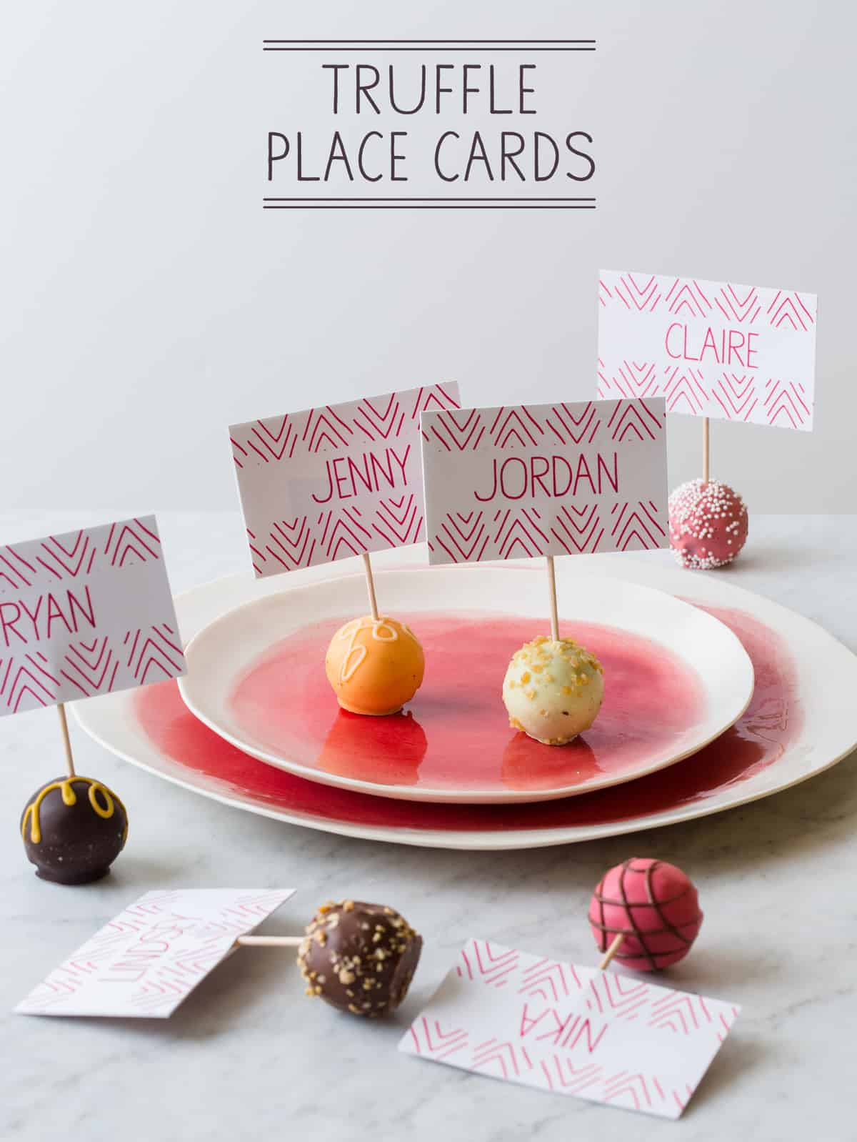 Truffle Place Cards Place Card Diy Spoon Fork Bacon