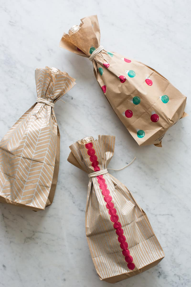 Wine Wrapping Paper DIY