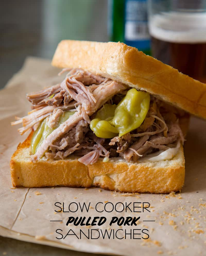 Slow Cooker Pickled Pulled Pork Sandwiches