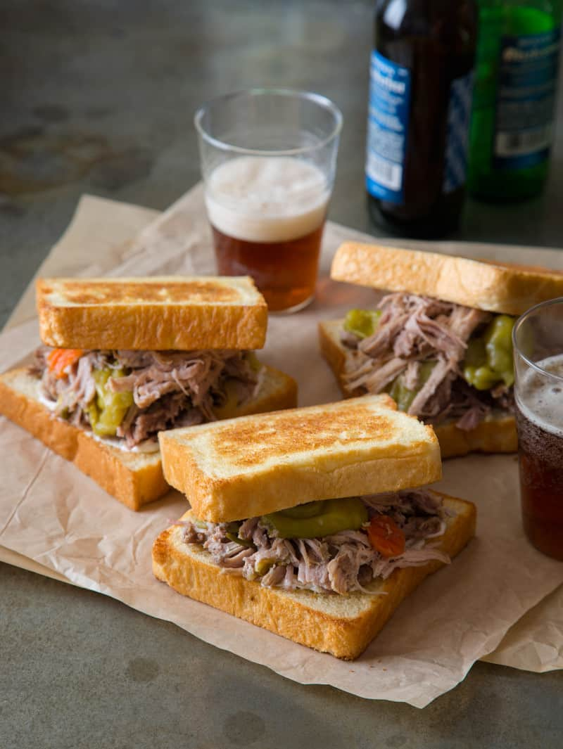 Pickled Pulled Pork Sandwich recipe