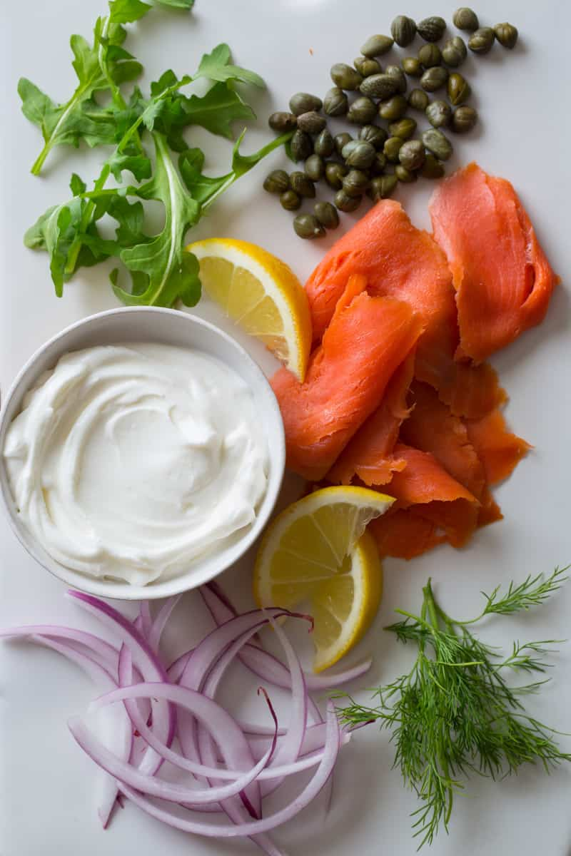 Smoked Salmon Pizza ingredients