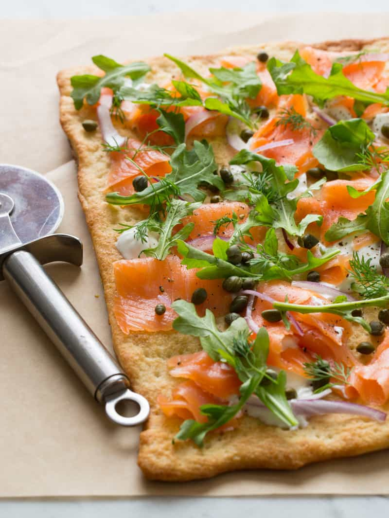 Smoked Salmon Pizza recipe with capers