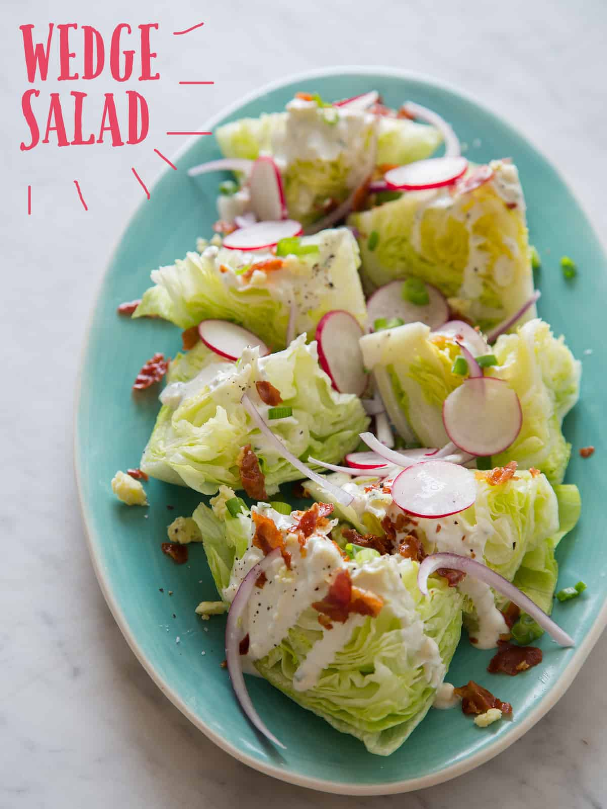 Wedge Salad Recipe Spoon Fork Bacon
