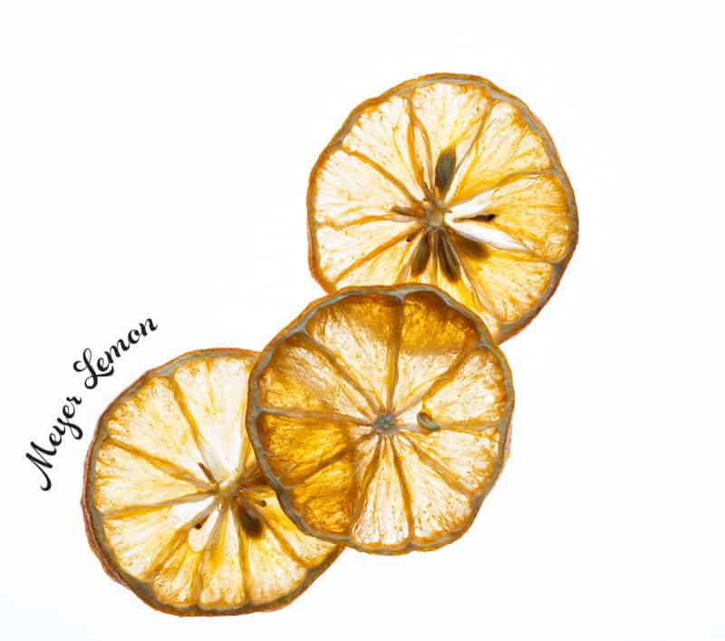 Dehydrated Meyer Lemons