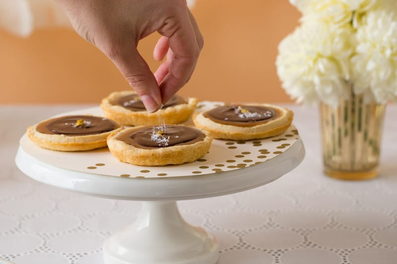 Easy Salted Chocolate and Caramel Tarts