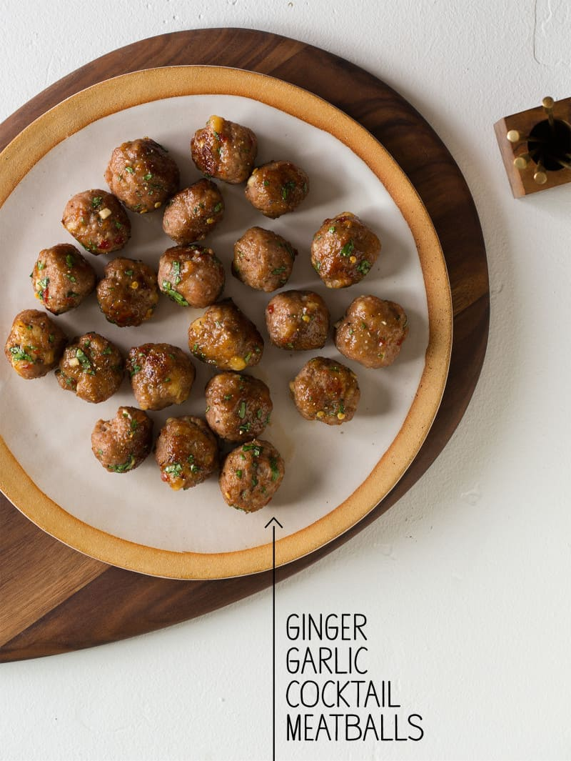 Ginger Garlic Cocktail Meatballs