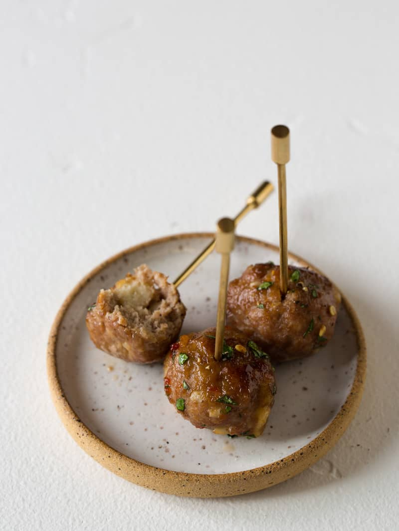 Ginger Garlic Cocktail Meatballs recipe