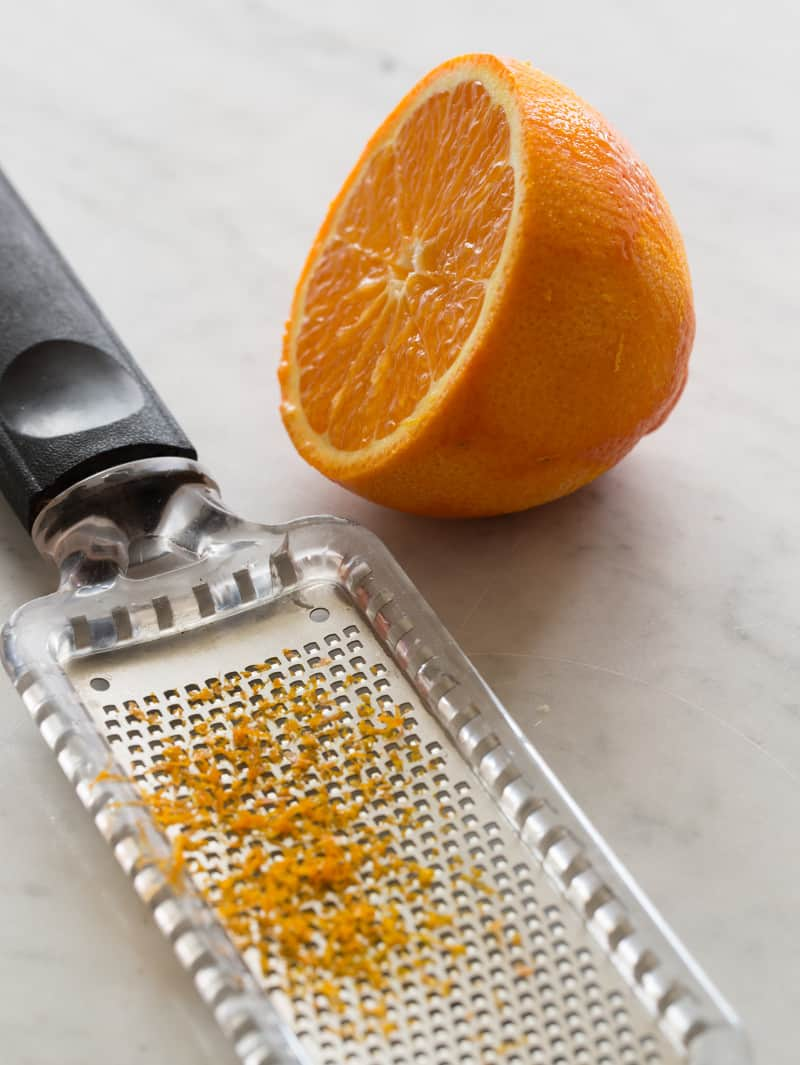 Orange Zest for Vanilla Orange Glaze