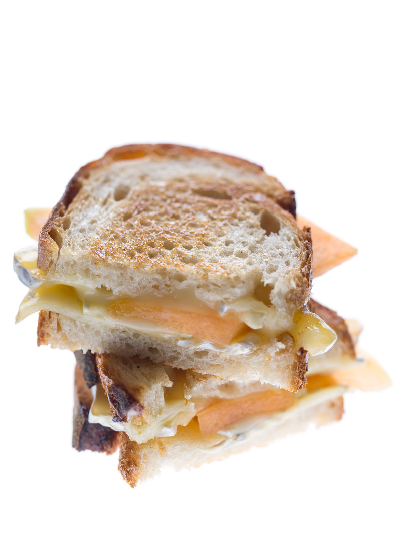 Cantaloupe and Brie Grilled Cheese