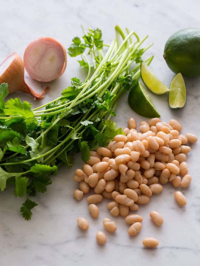 Ingredients for Corn and White Bean Salsa