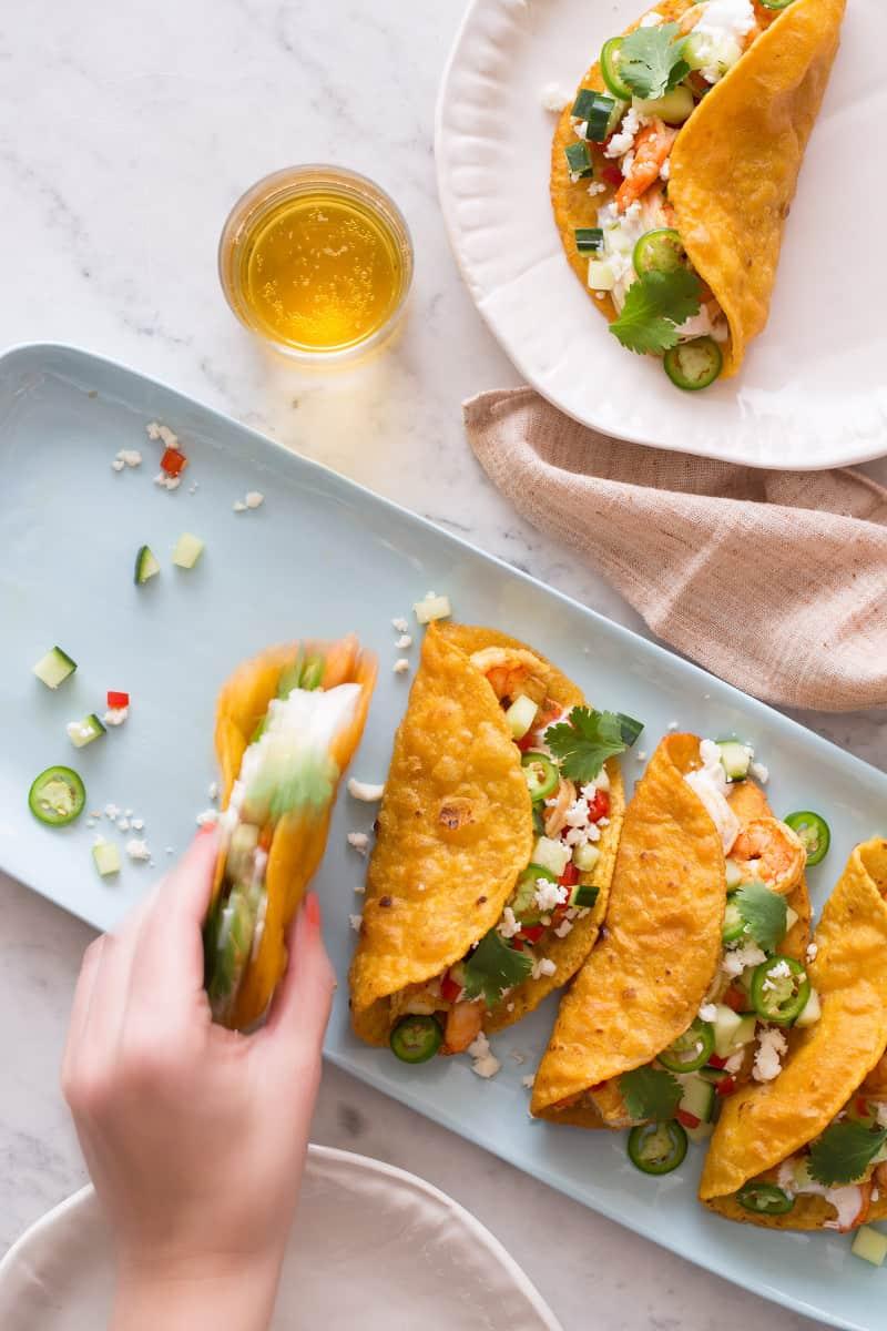 Spicy Curry Shrimp Tacos recipe