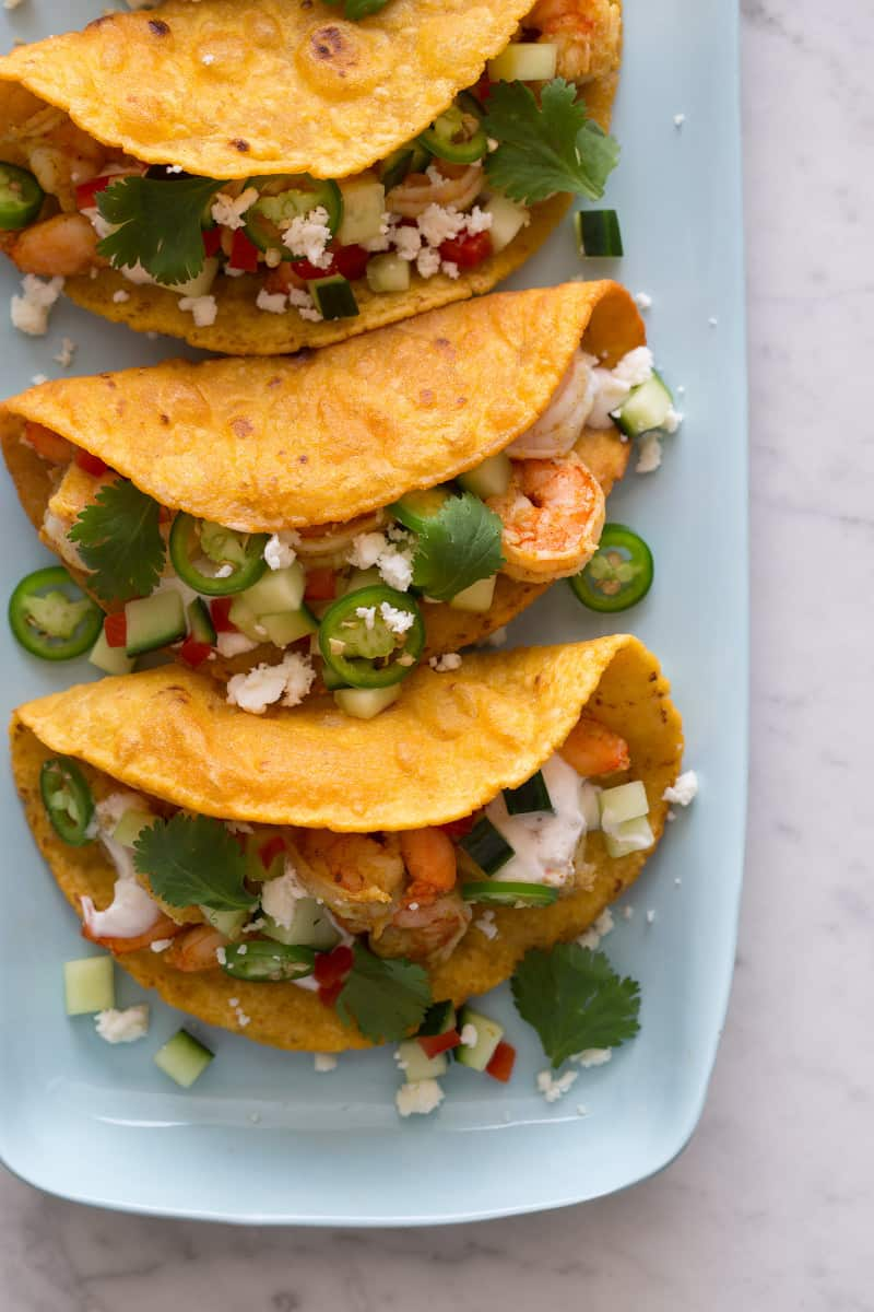 Spicy Curry Shrimp Tacos