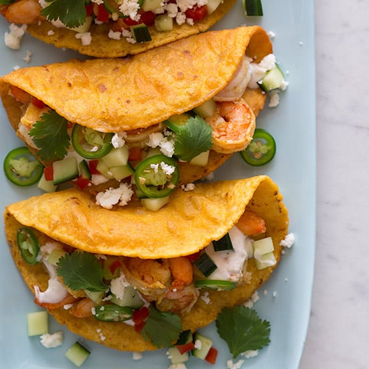 Spicy Curry Shrimp Tacos | Spoon Fork Bacon
