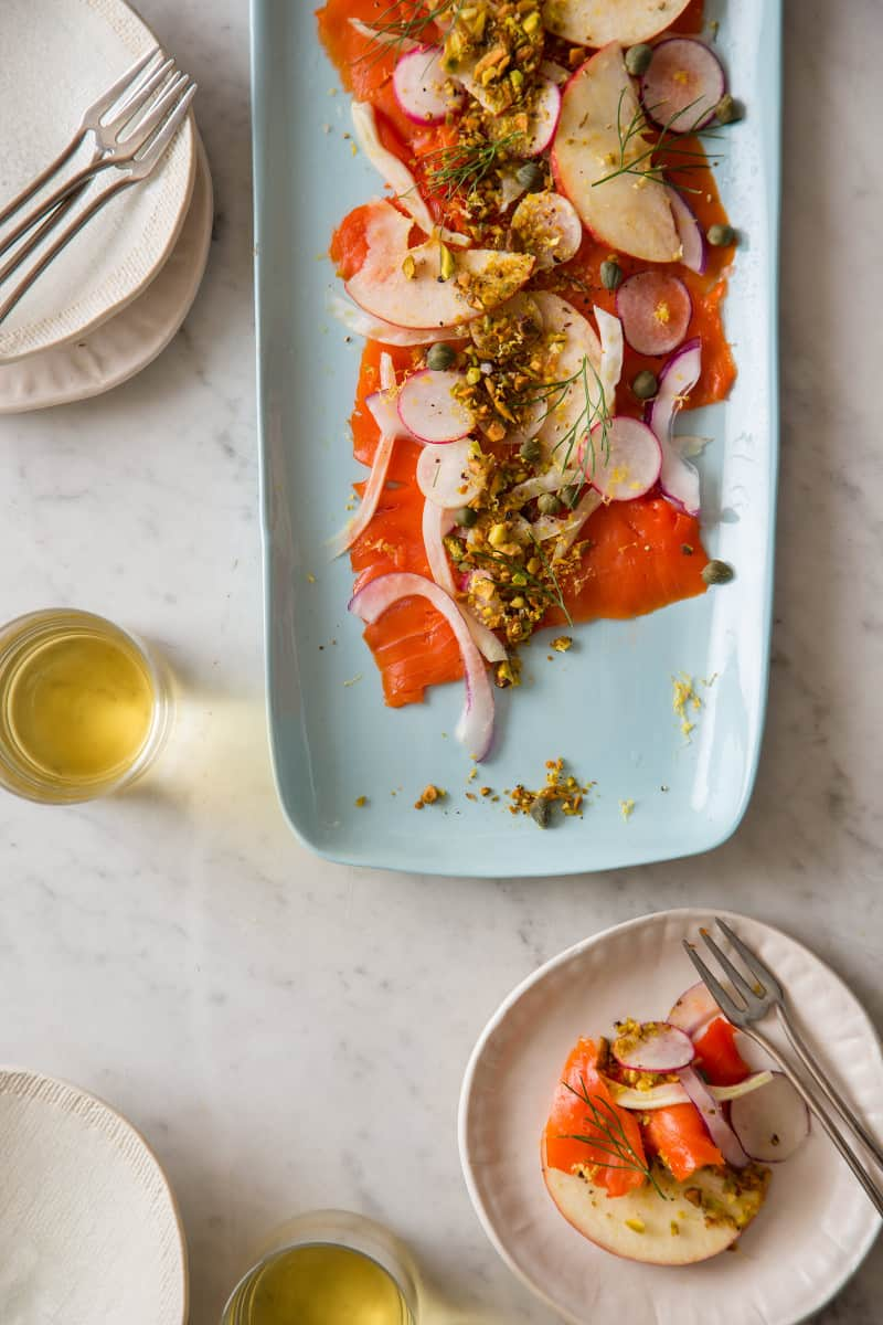 Smoked Salmon Carpaccio easy recipe