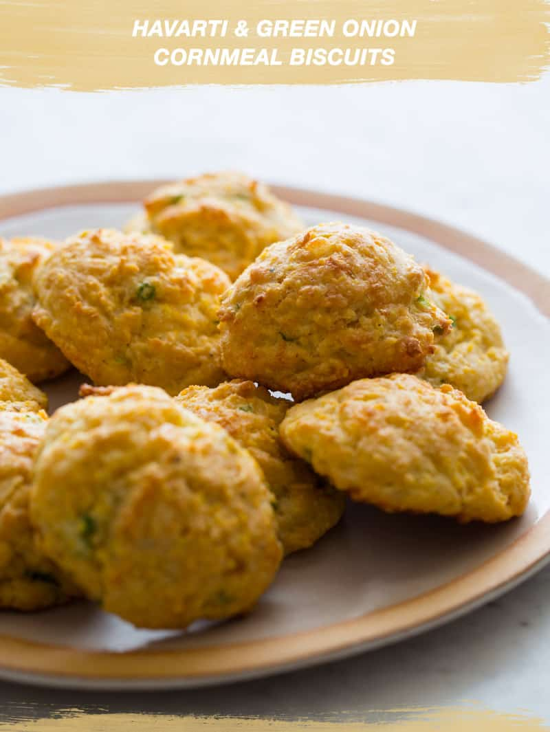 Havarti and Green Onion Cornmeal Biscuits