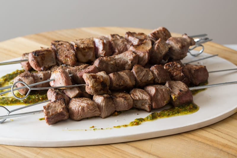 Coconut Milk Marinated Lamb Kabobs recipe